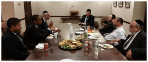 Agudath Israel leadership meeting New York Assemblyman Walter Mosley (D-57th District)
