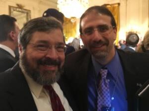 RAbbi Abba Cohen with U.S. Ambassador to Israel Dan Shapiro