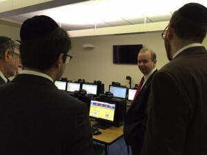 Representative Andrew Brenner touring the classrooms at Columbus Torah Day School