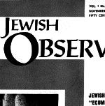 The Jewish Observer Vol. 1 No. 3 November 1963/Kislev 5724
