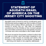 Statement of Agudath Israel of America on the Jersey City Shooting