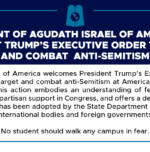 Statement of Agudath Israel of America on President Trump's Executive Order to Target and Combat Anti-Semitism