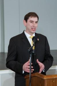 Councilman Chaim Deutsch Addressing the COPE Graduates