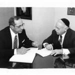 Governor Mario Cuomo and Rabbi Moshe Sherer