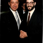 Governor Mario Cuomo with Rabbi Chaim Dovid Zwiebel at Agudath Israel's dinner in 1986.