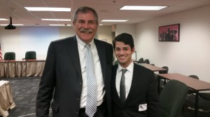 Rabbi Yitz Frank and Ohio Superintendent of Public Instruction Dr. Richard Ross at a December 15th meeting of the Chartered NonPublic Graduation Requirements Committee at the Ohio Department of Education