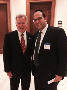 Senator Bob Gordon and Rabbi Schnall