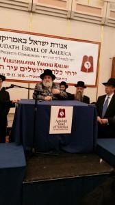 """Viznitzer Rebbe Shlit""""a addressing 15th Yarchei Kallah in Yerushalayim"""