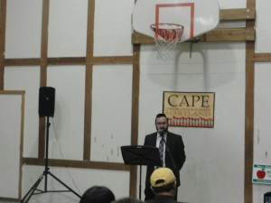 Rabbi Sadwin speaking at Maryland CAPE's Winter Policy Meeting
