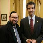 Rabbi Sadwin and Rep. John Sarbanes after Prime Minister Netanyahu's joint address to Congress.