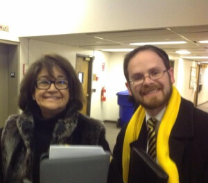 Rabbi A. D. Motzen with Tennessee Senate Education Chairman and sponsor of the Individual Education Act SB 27, Delores Gresham