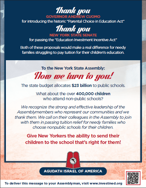 New York Parental Choice in Education Flyer