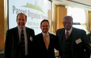 Peter Murphy, vice president for policy for the Foundation for Opportunity in Education; Rabbi A.D. Motzen, national director of state relations for Agudath Israel of America and civil rights leader Reverend H.K. Matthews