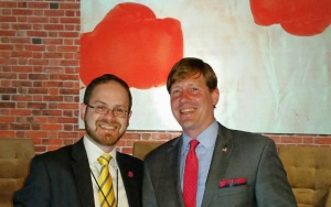 Rabbi A.D. Motzen and Tennessee State Senator Brian Kelsey (R - Germantown)