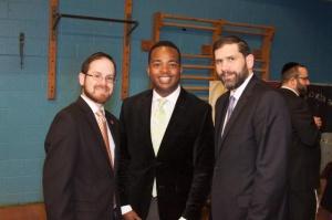 Rabbi A.D. Motzen; William Godwin,  Esq., director of external affairs for One Chance Illinois and Rabbi Mordechai Raizman, executive director of operations for the Associated Talmud Torahs