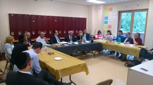 Highland Park/Edison community members meet with legislators to discuss the security bill