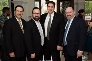 Dr. Michael Elman, Rabbi Ariel Sadwin, Israeli Ambassador Ron Dermer, and Mr. Jan Loeb
