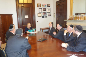 Agudath Israel Leaders Meet with Senator Gillibrand on Iran Nuclear Deal2