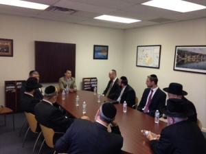Democratic Congressman Brendan Boyle (PA- 13) meeting with Philadelphis-area Rabbis