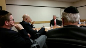 Members of Jewish groups meeting with Congressman Wenstrup