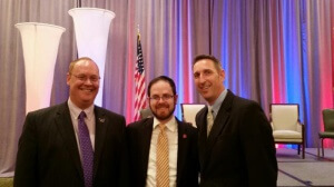 Dr. Ben Scafidi, Rabbi A. D. Motzen, and Nevada Senator Scott Hammond (R - Las Vegas) following a Georgia Public Policy Foundation legislative policy conference in Atlanta.