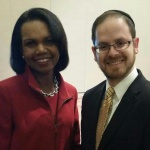 Rabbi A. D. Motzen with former Secretary of State Dr. Condoleeza Rice