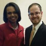 Rabbi A. D. Motzen with former Secretary of State Dr. Condoleeza Rice