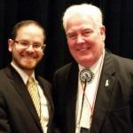 Rabbi A.D. Motzen with Speaker of the Nevada Assembly John Hambrick