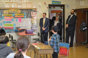 Senator Broden being welcomed into a SBHDS classroom