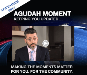 Newest Agudah Moment video from Agudath Israel of Illinois