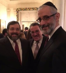 Rabbi Abba Cohen, vice President for federal affairs and Washington director and counsel, Mr. Shlomo Werdiger, chairman of the board of trustees of Agudath Israel, and Rabbi Chaim Dovid Zweibel, Executive Vice President of Agudath Israel of America