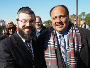 Agudath Israel of Florida Director Rabbi Moshe Matz and Martin Luther King III