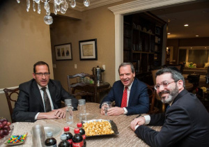 Senator Ira Silverstein (D-8); Senate President John Cullerton (D-6); Rabbi Shlomo Soroka, Agudath Israel of Illinois' director of government affairs