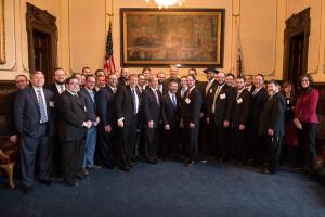 Illinois Mission 2016 delegates with Illinois Governor Bruce Rauner