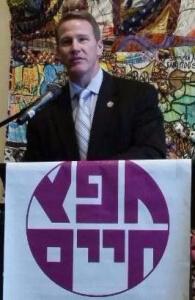 Ohio Secretary of State, Jon Husted, addressing the crowd