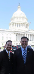 Rabbi A.D. Motzen, Agudath Isreal's national director of state relations and Congressman Luke Messer (R- IN)