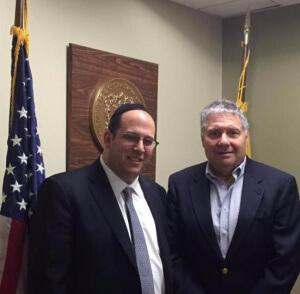 Rabbi Avi Schnall and Senator Bob Singer
