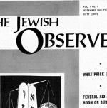 The Jewish Observer Vol. 1 No. 1 September 1963/Tishri 5724