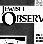 The Jewish Observer Vol. 1 No. 2 October 1963/Cheshvon 5724