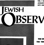 The Jewish Observer Vol. 1 No. 4 January 1964/Teves 5724