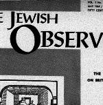The Jewish Observer Vol. 1 No. 8 May 1964/Sivan 5724